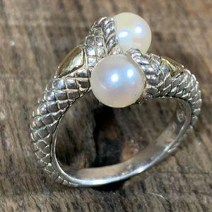 Andrea Candela CJI 18kt 925 Pearl Wrap Ring